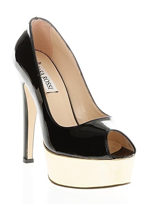 Casa Rossi Platform Topuklu Ayakkabı Siyah